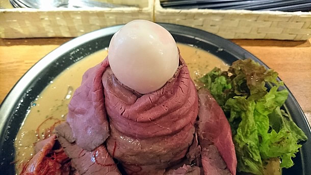 フジヤマボルケーノの中に卵