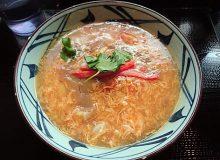 丸亀製麺「かに玉あんかけうどん」は生姜の追加がおすすめです!