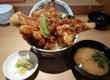 「天丼まきの」の天丼はボリューム満点!胡麻油が香る関東風!