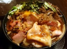 ひだまり庵の3種盛肉丼!堺でローストビーフ・ポークとステーキ